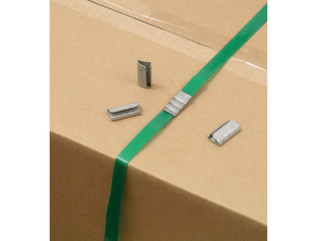 """1/2"""" Open Serrated Seals for Polyester (PET) Strapping 3"""