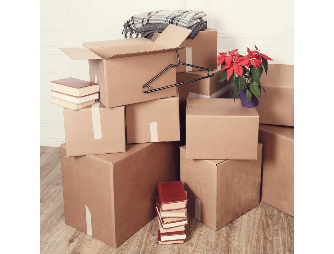 """7""""L x 7""""W x 7""""H Small Box for Moving, Shipping or Storing Items, 100% Recyclable, Brown 1"""