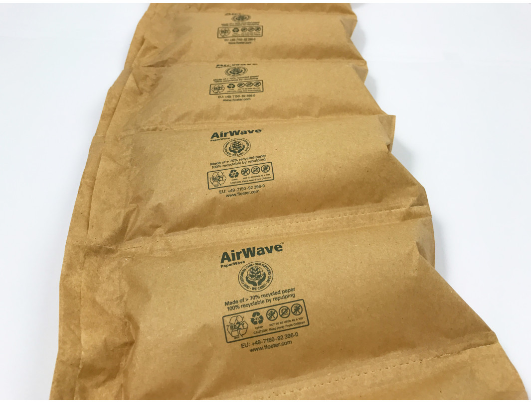 AirWave1 with 100% Biodegradable Paper Based PaperWave7.1 Air Pillow Film Starter pack 3