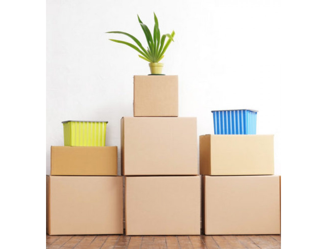 """11 1/4""""L x 8 3/4""""W x 4""""H Letterhead Cardboard Box for Moving, Shipping or Storage, 100% Recyclable, Brown 4"""