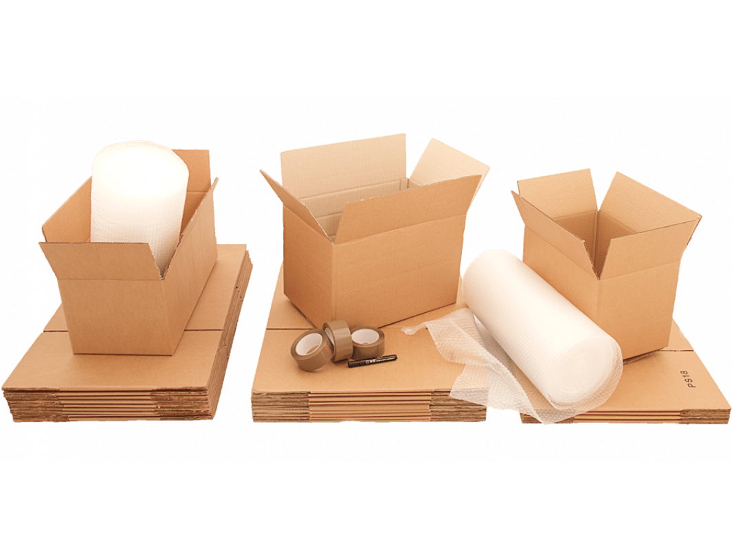 """7""""L x 7""""W x 7""""H Small Box for Moving, Shipping or Storing Items, 100% Recyclable, Brown 2"""