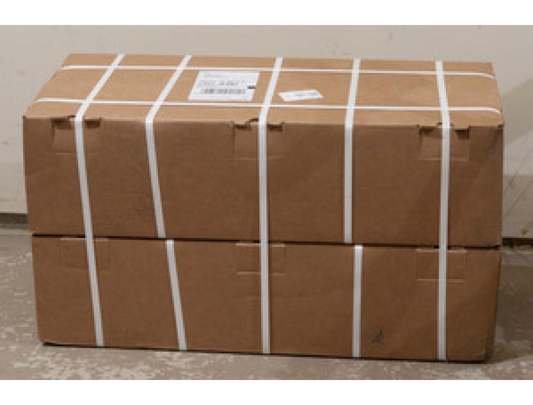 "5 mm x 24000' Machine Grade Polypropylene (PP) Strapping, 130 lbs. Break Strength, 8"" x 8"" Core, White 4"