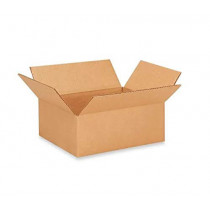 "11 1/4""L x 8 3/4""W x 4""H Letterhead Cardboard Box for Moving, Shipping or Storage, 100% Recyclable, Brown"