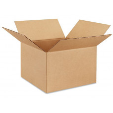 "12""L x 12""W x 8""H Medium Box for Moving, Shipping or Storing Items, 100% Recyclable, Brown"