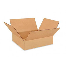 "12""L x 12""W x 3""H Medium Cardboard Box for Moving, Shipping or Storage, 100% Recyclable, Brown"