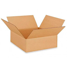 "12""L x 12""W x 4""H Small Box for Moving, Shipping or Storing Items, 100% Recyclable, Brown"