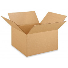 "14""L x 14""W x 8""H Medium Box for Moving, Shipping or Storing Items, 100% Recyclable, Brown"