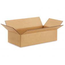 "16""L x 8""W x 4""H Medium Cardboard Box for Moving, Shipping or Storage, 100% Recyclable, Brown"