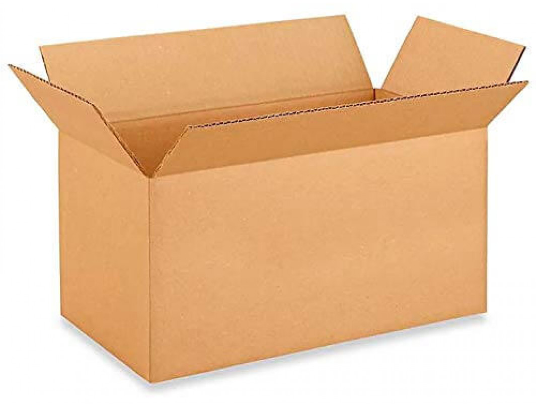 """18""""L x 9""""W x 9""""H Long Cardboard Box for Moving, Shipping or Storage, 100% Recyclable, Brown"""