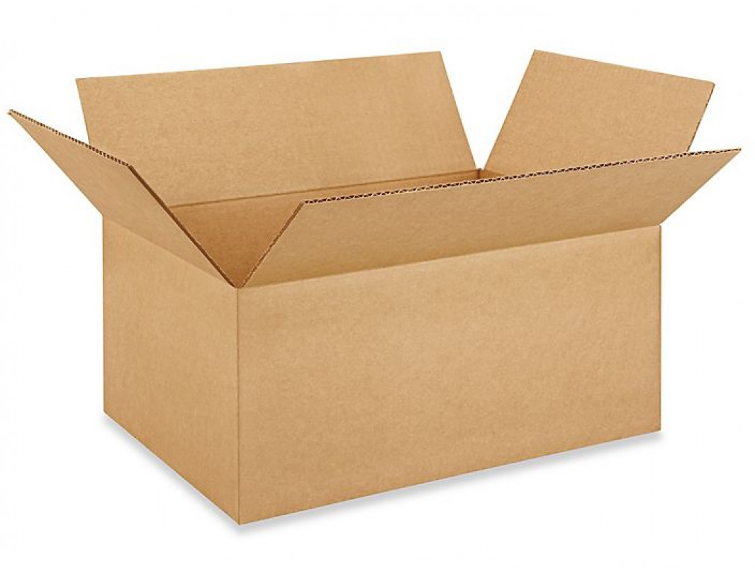 "18""L x 12""W x 8""H Medium Box for Moving, Shipping or Storing Items, 100% Recyclable, Brown"