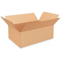 "18""L x 12""W x 6""H Medium Cardboard Box for Moving, Shipping or Storage, 100% Recyclable, Brown"