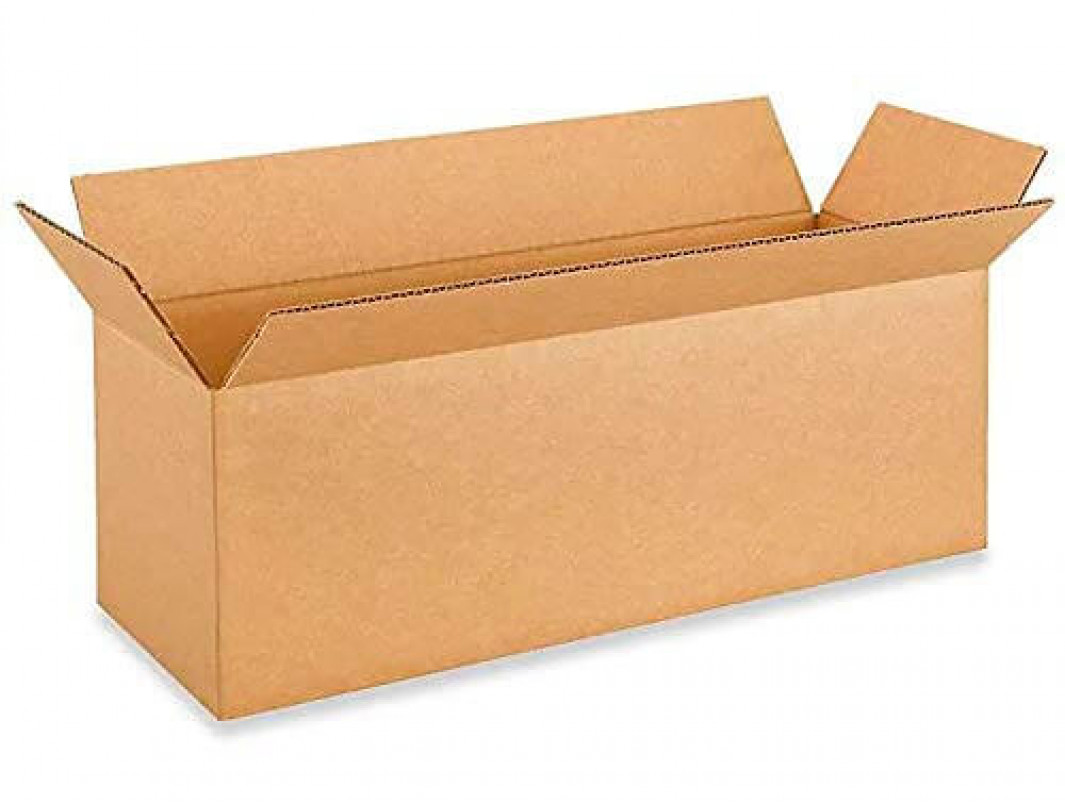 "18""L x 6""W x 6""H Small Box for Moving, Shipping or Storing Items, 100% Recyclable, Brown"