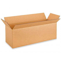 """18""""L x 6""""W x 6""""H Long Box for Moving, Shipping or Storing Items, 100% Recyclable, Brown"""
