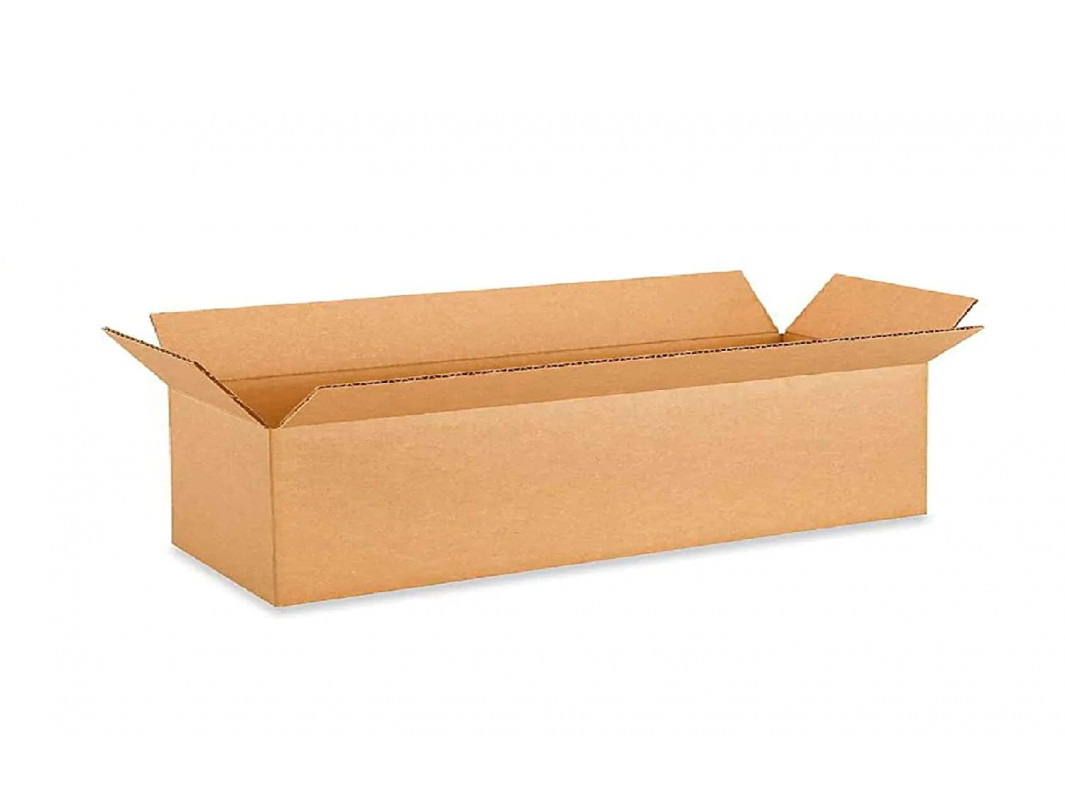 """22""""L x 6""""W x 6""""H Long Cardboard Box for Moving, Shipping or Storage, 100% Recyclable, Brown"""