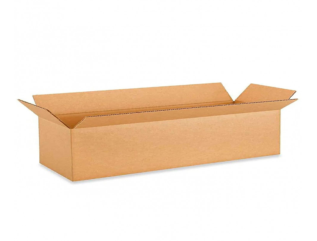 """24""""L x 6""""W x 6""""H Long Cardboard Box for Moving, Shipping or Storage, 100% Recyclable, Brown"""