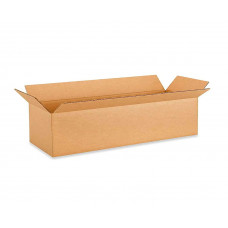 """24""""L x 9""""W x 9""""H Long Cardboard Box for Moving, Shipping or Storage, 100% Recyclable, Brown"""