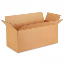 """33""""L x 14""""W x 14""""H Large Box for Moving, Shipping or Storing Items, 100% Recyclable, Brown"""
