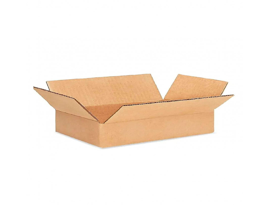 """15""""L x 15""""W x 3""""H Flat Medium Cardboard Box for Moving, Shipping or Storage, 100% Recyclable, Brown"""