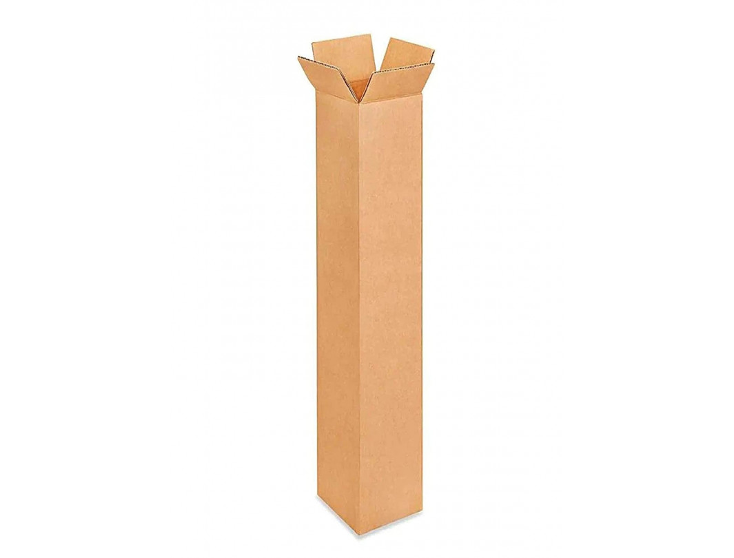 """6""""L x 6""""W x 48""""H Tall Corrugated Shipping Boxes for Moving, Shipping, Storage, 100% Recyclable, Brown"""