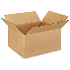 "8""L x 6""W x 4""H Small Box for Presents, Shipping or Storing Items, 100% Recyclable, Brown"