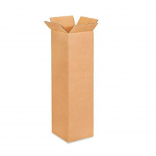 """8""""L x 8""""W x 36""""H Tall Cardboard Box for Moving, Shipping, Storage, 100% Recyclable, Brown"""