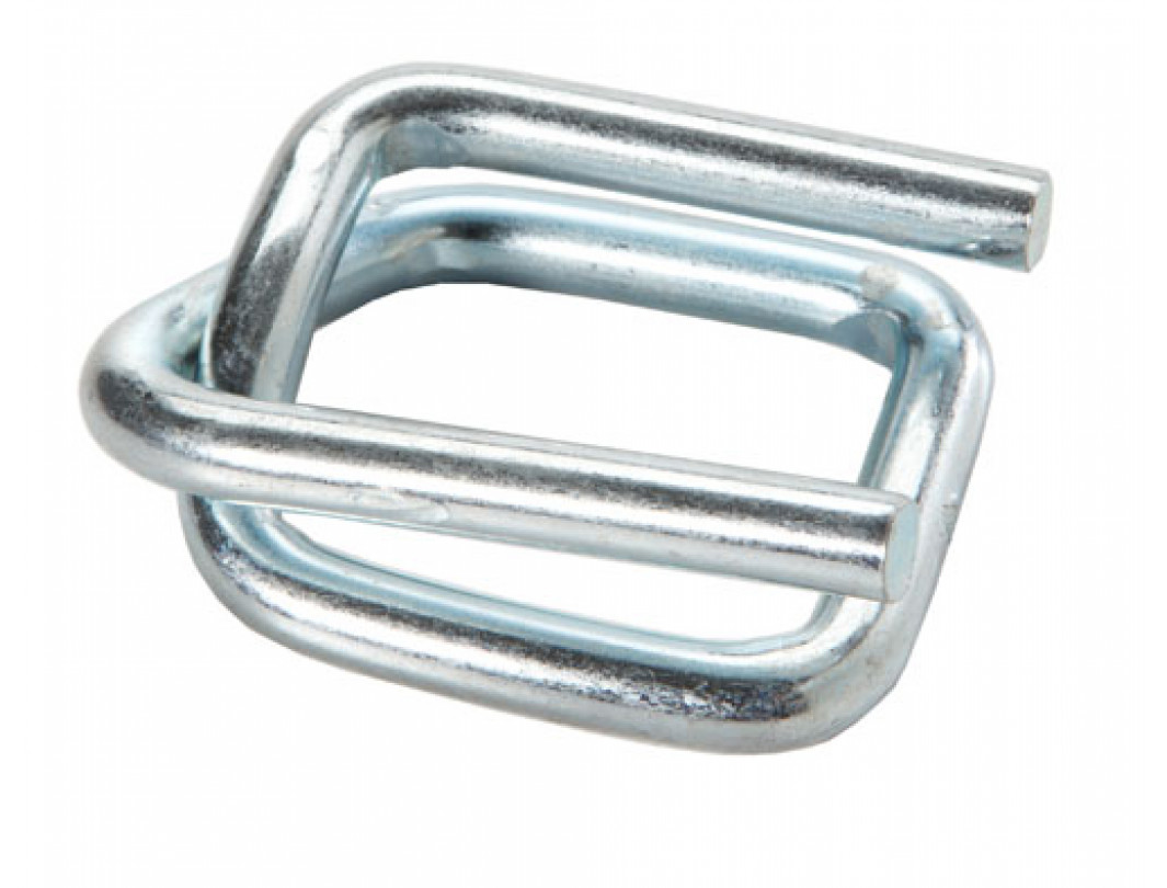 "Heavy Duty Strap Wire Buckles for 1 1/4"" Cord Strapping, Galvanized, Box of 250"