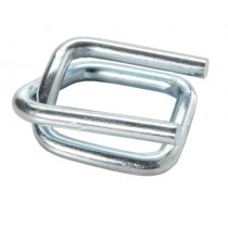 "1 1/4"" Heavy Duty Strap Wire Buckles for Cord Strapping, Galvanized"