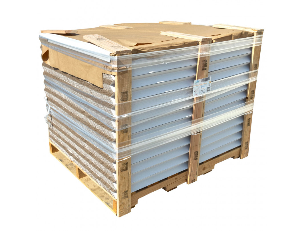 """Cardboard Edge Protectors 2"""" x 2"""" x 24"""", Full Pallet of 5600 pc, White"""