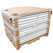 """Cardboard Edge Protectors 2"""" x 2"""" x 48"""", Full Pallet of 2800 pc, White"""