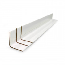"2"" x 2"" x 36"" V-Board Cardboard Edge Protector, Extra Hard, White"