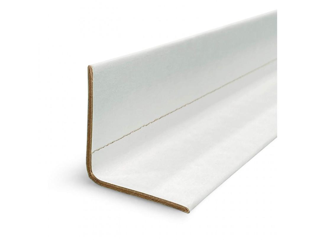 "2"" x 2"" x 9"" V-Board Cardboard Edge Protector, Extra Hard, White 1"