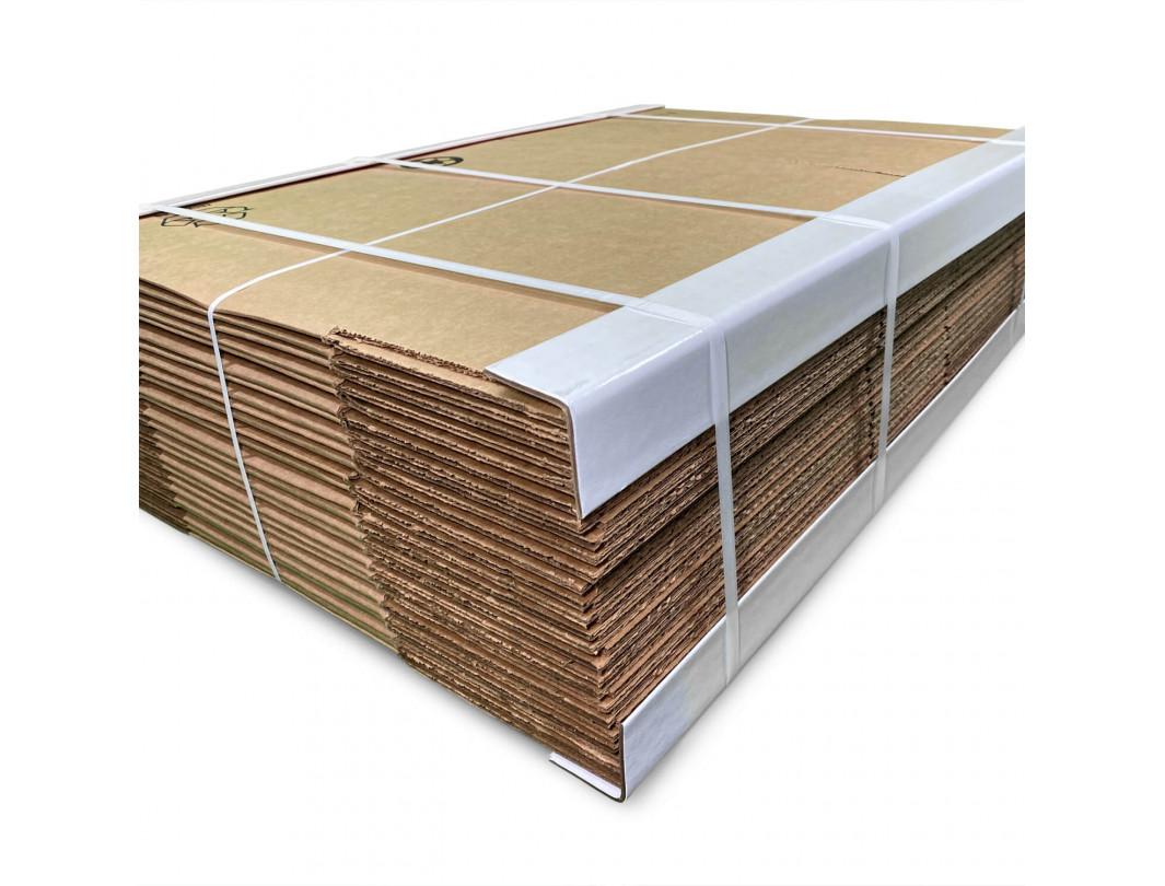 "2"" x 2"" x 36"" V-Board Cardboard Edge Protector, Extra Hard, White 3"