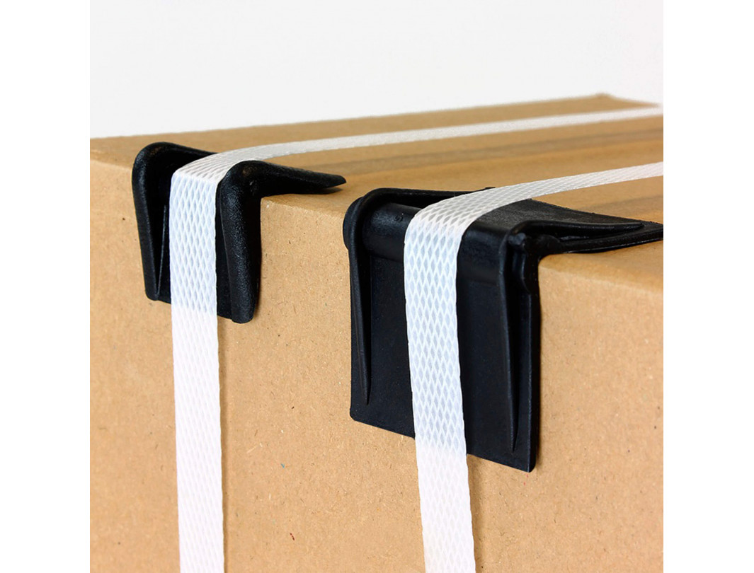 """2.25"""" x 1.75"""" Plastic Edge Protectors, Suited for up to 1"""" Strapping 4"""