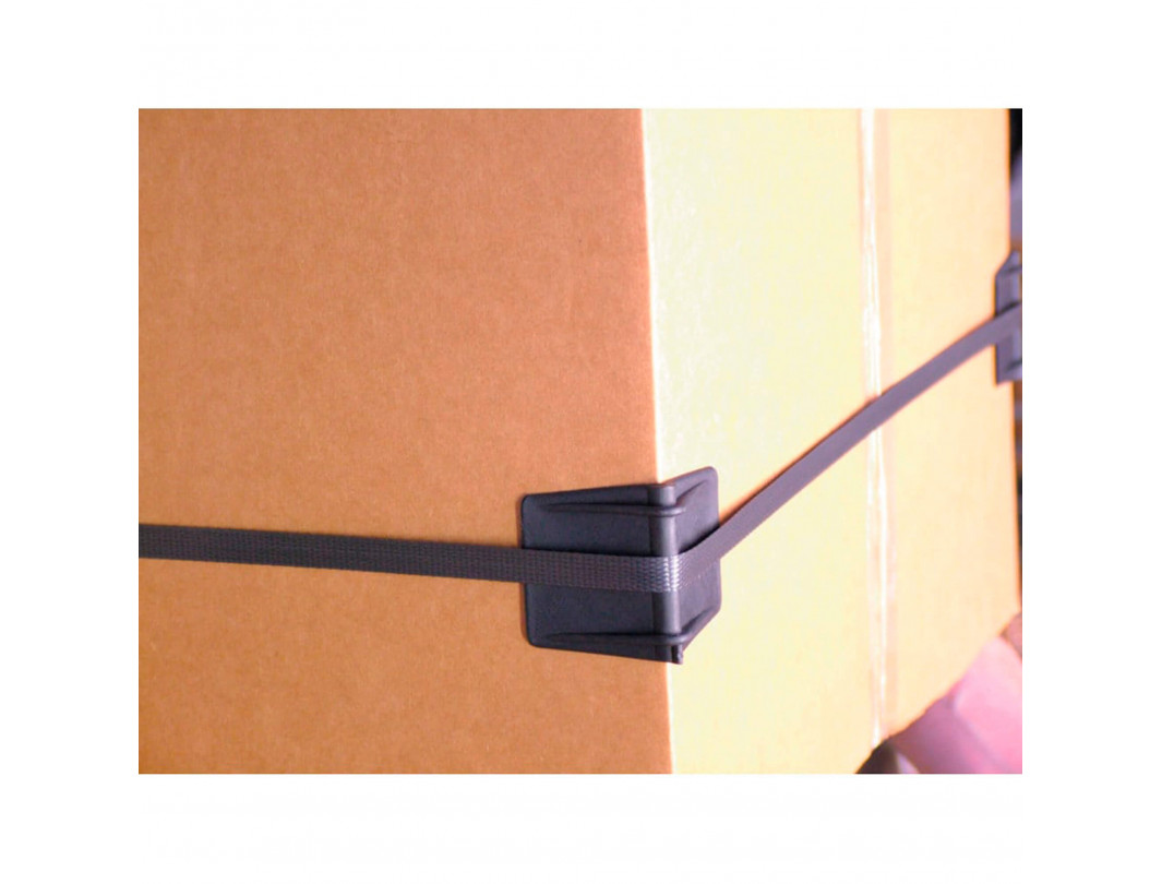 """2.25"""" x 1.75"""" Plastic Edge Protectors, Suited for up to 1"""" Strapping 5"""