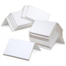 """2"""" x 2"""" x 3"""" V-Board Cardboard Edge Protectors, White, 0.120"""" Thick"""