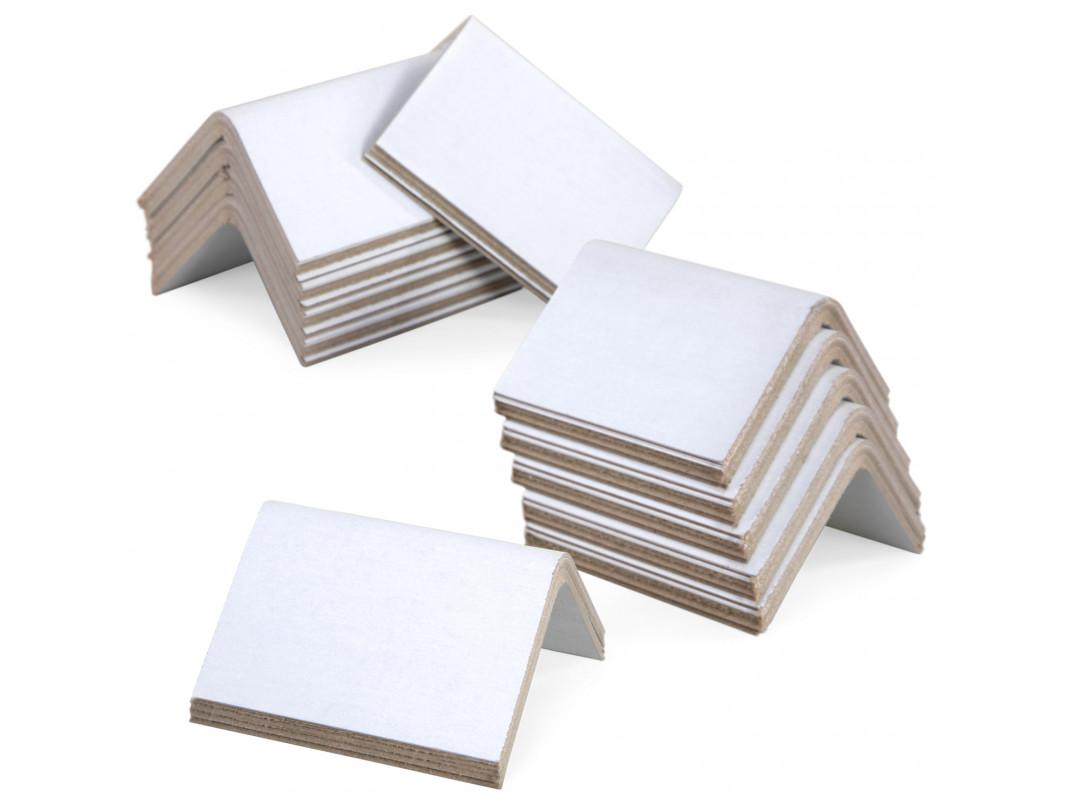 """2"""" x 2"""" x 3"""" V-Board Cardboard Edge Protectors, White, 0.225"""" Thick"""