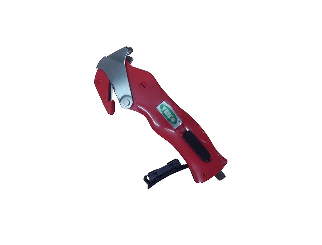 All-in-One Package Opener with Built-in Film Cutter & Strap Cutter & Tape Splitter & Staple Remover of Red Color (Pack of 1 and 7)
