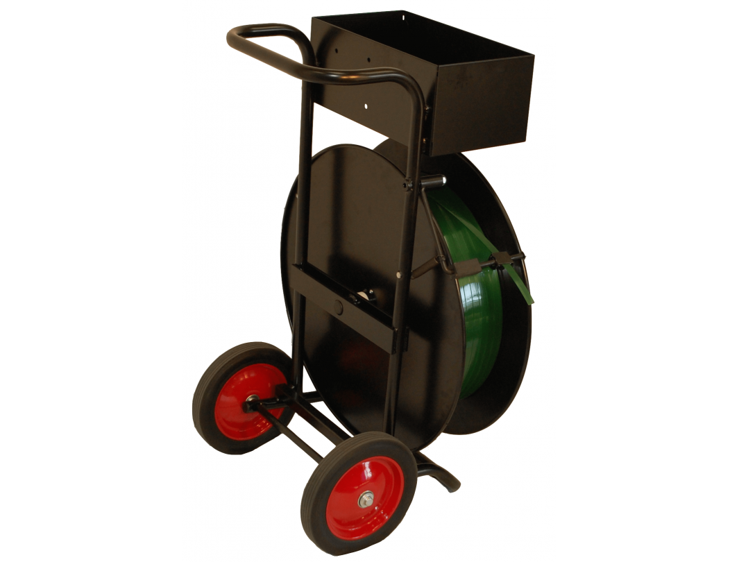"Strapping Cart/Dispenser for PET & PP Strapping Coils with 16 x 3"" and 16 x 6"" Core 1"