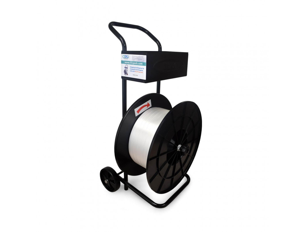 WD-83 Strapping Cart/Dispenser for Composite Cord Strapping Coils with 8 x 8 Core