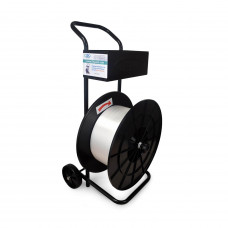 Strapping Cart/Dispenser for Composite Cord Strapping Coils with 8 x 8 Core