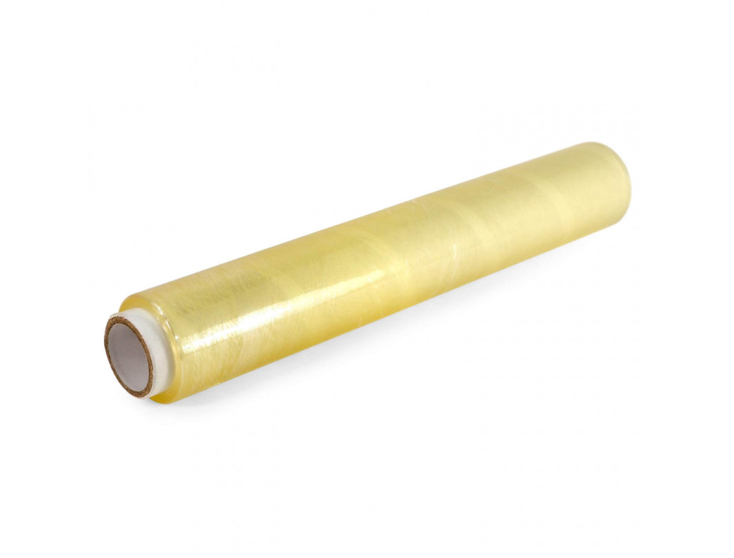 "12"" Strong PVC Cling Food Film Wrap Refill Roll, Champagne Color"