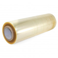 "18"" x 3000' Strong PVC Cling Food Film Wrap Refill Roll, Champagne Color"