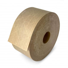 "2.75"" x 450' Reinforced Water-Activated (Gummed) Tape, Kraft"