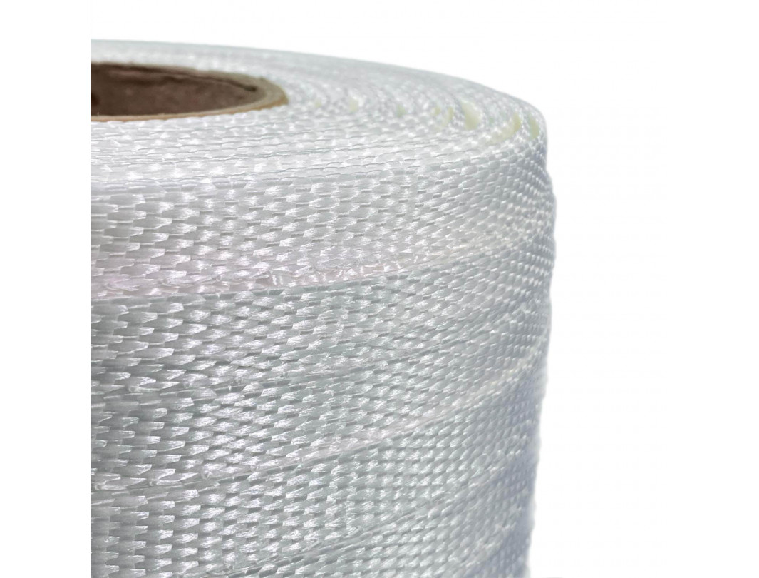 "1/2"" x 3900' Heavy Duty Woven Cord Strapping Roll, 650 lbs. Break Strength, 6 x 3 Core 1"