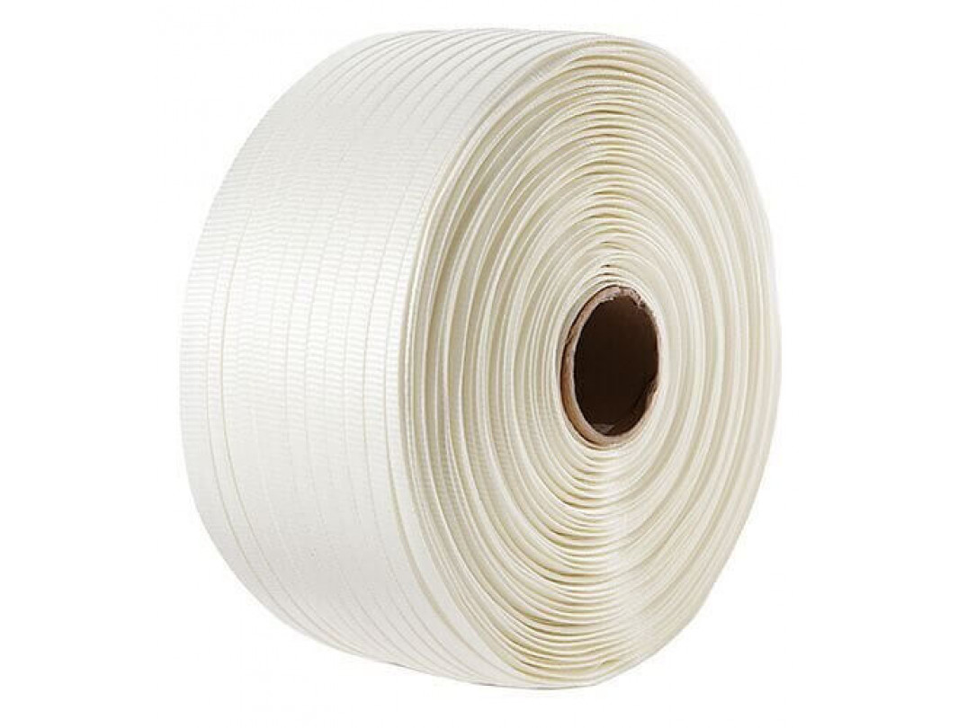 "1/2"" x 3900' Heavy Duty Woven Cord Strapping Roll, 650 lbs. Break Strength, 6 x 3 Core 2"