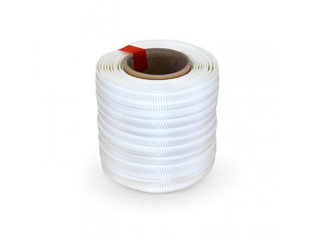 "3/4"" x 250' Heavy Duty Woven Cord Strapping Mini Roll 2425 lbs. Break Strength, 6"" x 3"" Core"