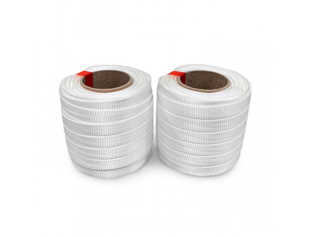 "3/4"" x 250' Heavy Duty Woven Cord Strapping Mini Roll 2425 lbs. Break Strength, 6"" x 3"" Core 2"