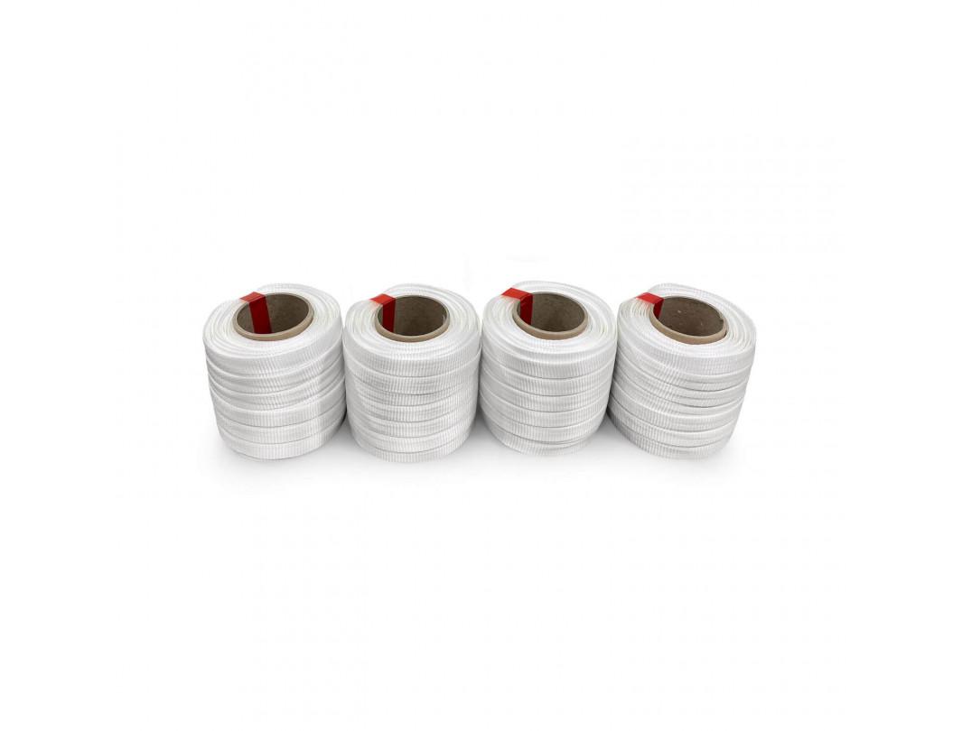"3/4"" x 250' Heavy Duty Woven Cord Strapping Mini Roll 2425 lbs. Break Strength, 6"" x 3"" Core 3"