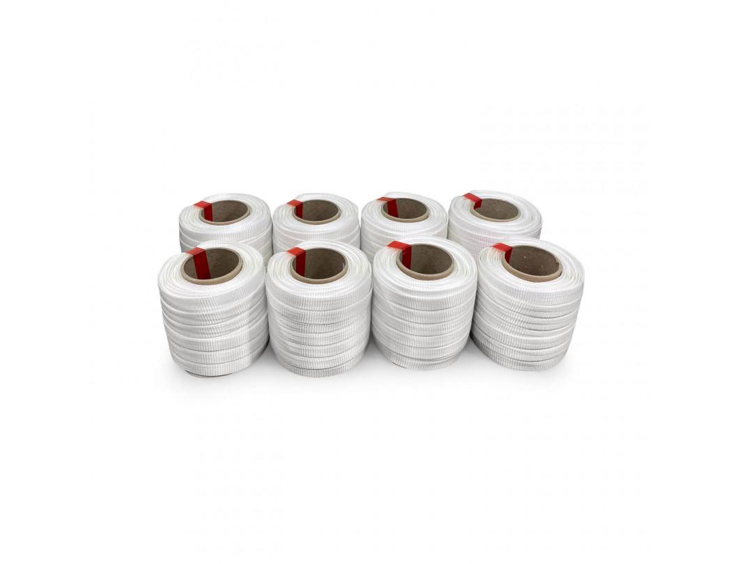 "3/4"" x 250' Heavy Duty Woven Cord Strapping Mini Roll 2425 lbs. Break Strength, 6"" x 3"" Core 4"