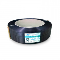 "1/2"" x 9000' Hand Grade Polypropylene (PP) Strapping Roll, 350 lbs. Break Strength, 16 x 6 Core, Black"